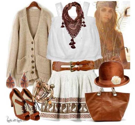 Цвет одежды в стиле кантри - это приглушенные оттенки коричневого...